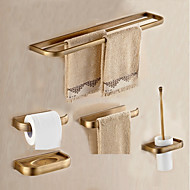 cheap Antique Brass Series-Bathroom Accessory Set Antique Metal 5pcs - Hotel bath Toilet Paper Holders / tower bar / soap dish Wall Mounted