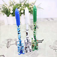 12 pcs rocket blue ink gel pen