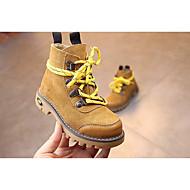 女の子 靴 本革 秋 冬 コンバットブーツ ブーツ 用途 カジュアル ブラック キャメル