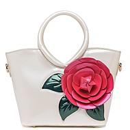 baratos Bolsas Tote-Mulheres Bolsas PU Tote Flor Floral Verde Escuro / Fúcsia / Azul Céu