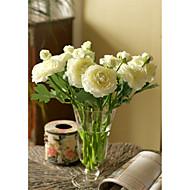 10 Gren Silke Peoner Bordblomst Kunstige blomster