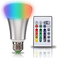 billige Globepærer med LED-KWB 1set 10W 900 lm E27 LED-globepærer A70 1 leds COB 2 i 1 RGB + Hvit AC 85-265V