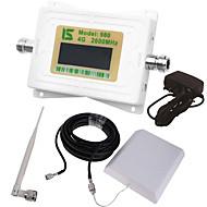 mini intelligens lcd kijelző 4g980 2600mhz mobiltelefon jelerősítő átjátszó kültéri dugó antennával / beltéri whip antenna fehér
