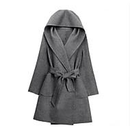 Mulheres Casaco Trabalho Vintage, Sólido Lã