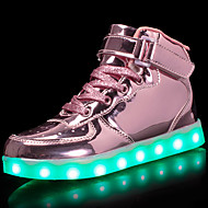 cheap Girls' Shoes-Girls' Shoes Patent Leather / Customized Materials Fall Comfort / Light Up Shoes Sneakers Walking Shoes Lace-up / Hook & Loop / LED for