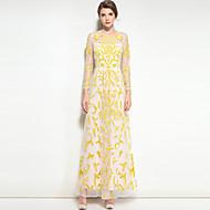 Mulheres Boho balanço Vestido Floral Retalhos Longo