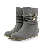 Mujer Zapatos Ante Primavera   Invierno Confort   Innovador   Botas de Moda Botas  Dedo redondo Botines   Hasta el Tobillo Amarillo   Rojo acacd8b566fe