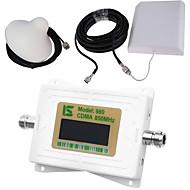 mini intelligent lcd display cdma980 850mhz mobiltelefon signal booster repeater med utendørs panel antenne / innendørs tak antenne hvit