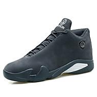 baratos Sapatos Masculinos-Homens Couro Ecológico Primavera / Outono Conforto Tênis Basquete Preto / Cinzento Escuro / Khaki