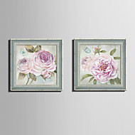 baratos Quadros com Moldura-Quadros Emoldurados Conjunto Emoldurado Floral/Botânico Vintage Botânico Arte de Parede, PVC Material com frame Decoração para casa Arte