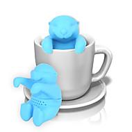 animal otter silikon infuser te filter kaffebønner filter te verktøy