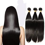 6 pakettia Perulainen Suora 10A Remy-hius Hiukset kutoo 12-28 inch Hiukset kutoo Hiukset Extensions