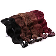 Neitsi 20'' 25g/lot Natural Wave Long U Nail Tip Fusion Human Hair Extensions Curl Remy Hair