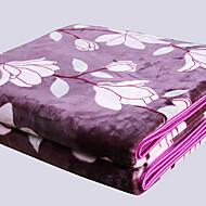 Superweich,Handgemacht Gestreift Polyester / Baumwolle Decken