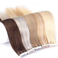 Neitsi 24'' 20Pcs 50g Tape in 100% Real Human Hair Extensions Straight Skin Weft 5A Grade Piano Color