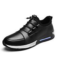 Miehet kengät PU Syksy Talvi Comfort Mokkasiinit Käyttötarkoitus Kausaliteetti Musta Sininen Tumman ruskea