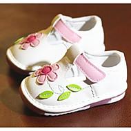 Bebê sapatos Couro Ecológico Primavera Outono Primeiros Passos Conforto Rasos Para Casual Branco Rosa claro