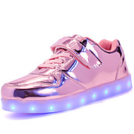 cheap Girls' Shoes-Girls' Shoes Customized Materials Patent Leather Winter Fall Light Up Shoes Comfort Sneakers LED Magic Tape Lace-up for Casual Outdoor