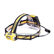 U'King פנסי ראש LED 3000 lm 1 מצב Cree XM-L L2 נייד עמיד מחנאות/צעידות/טיולי מערות שימוש יומיומי רכיבה על אופניים ציד דיג שחור/צהוב