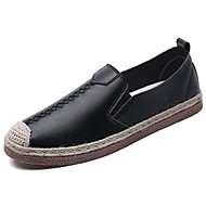メンズ 靴 PUレザー 春 秋 コンフォートシューズ ローファー&スリップアドオン 用途 ホワイト ブラック オレンジ