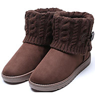 baratos Sapatos Femininos-Mulheres Sapatos Borracha / Tecido Outono / Inverno Botas de Neve Botas Botas Curtas / Ankle Marron / Vermelho / Verde