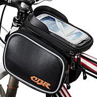 Vesker til sykkelramme Vesker til sykkelstyre Bananveske Mobilveske 6.2 tommers Anti-Skli Vanntett Regn-sikker Støvtett Berøringsskjerm