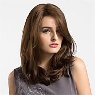 preiswerte Perücken & Haar Verlängerungen-Synthetische Perücken Natürlich gewellt Braun Damen Kappenlos Natürliche Perücke Medium Synthetische Haare