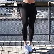 Dame Daglig Sports Legging - Ensfarvet, Net Medium Talje