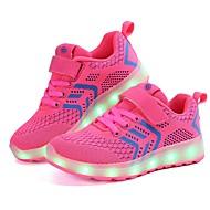 baratos Sapatos de Menino-Para Meninos Sapatos Malha Respirável / Tecido Primavera Verão Conforto / Tênis com LED Tênis Velcro / LED para Rosa claro / Preto /