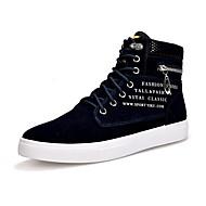 Muškarci Cipele Filc Proljeće Jesen Inovativne cipele Udobne cipele Sneakers Perlica Drapirano sa strane za Kauzalni Vanjski Crn Dark