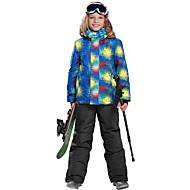 Phibee Para Meninos Jaqueta de Esqui Quente Térmico/Quente A Prova de Vento Zíper á Prova-de-Água Vestível resistente à água Resistente