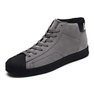メンズ 靴 PUレザー 秋 冬 コンフォートシューズ スニーカー 編み上げ 用途 カジュアル ブラウン ブラック グレー