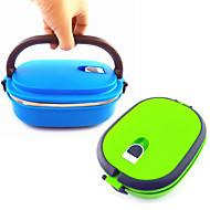 de alta qualidade portátil bloqueado bento caixa de alimentos recipiente de louça lunchbox inoxidável 900ml caixa de almoço