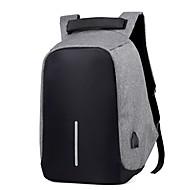 billige Computertasker-Dame Tasker Lærred Laptoptaske Lynlås for udendørs Grå / Rød