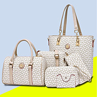 cheap Bags-Women's Bags PU Bag Set 5 Pieces Purse Set Pattern / Print Purple / Coffee / Sky Blue