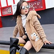 Dívčí Umělá kožešina Jednobarevné Zima Blůzky