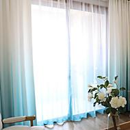 Propp Topp Dobbelt Plissert Blyant Plissert Window Treatment Moderne , Ensfarget Damaskvev Stue Polyesterblanding Materiale Gardiner