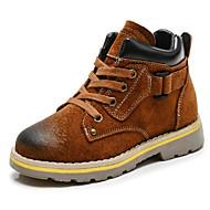 Jongens Schoenen Nubuck leder Leer Herfst Winter Comfortabel Legerlaarzen Laarzen Voor Causaal Zwart Bruin Khaki