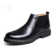 billige -Herrer Sko Læder Vinter Modestøvler Støvler Støvletter Til Afslappet Sort Mørkebrun