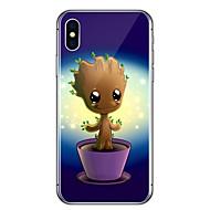 Para iPhone X iPhone 8 Case Tampa Transparente Estampada Capa Traseira Capinha Desenho Animado Árvore Macia PUT para Apple iPhone X