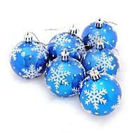 Joulukoristeet Joulujuhlatarvikkeet Joulukuusenkoristeet Joulukuuset Lelut Christmas Sfääri Lumihiutale Loma Fantasia Aikuisten 6 Pieces