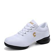 baratos Sapatilhas de Dança-Mulheres Tênis de Dança Malha Respirável Têni Salto Baixo Sapatos de Dança Branco / Preto