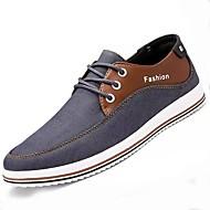 Muškarci Cipele PU Tkanina Proljeće Jesen Udobne cipele Oksfordice za Kauzalni Crn Sive boje Plava