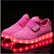 baratos Sapatos de Menino-Para Meninos Sapatos Tricô / Malha Respirável Primavera Conforto / Solados com Luzes / Tênis com LED Tênis Velcro / LED para Verde / Rosa