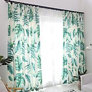 Propp Topp Dobbelt Plissert Blyant Plissert Window Treatment Moderne , Blomstret Geometrisk Stue Polyesterblanding Materiale gardiner