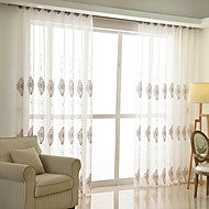 Stanglomme Propp Topp Fane Top Dobbelt Plissert Blyant Plissert Window Treatment Moderne , Damaskvev Soverom Polyesterblanding Materiale