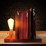 billige Skrivebordslamper-Skrivebordslampe Til Tre/ Bambus 220V Brun