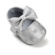 Bebê sapatos Courino Primavera Outono Conforto Primeiros Passos Sapatos de Berço Rasos Laço Velcro Para Casual Social Roxo Amarelo Fúcsia