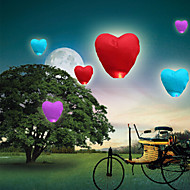 cheap Holiday Decorations-10Pcs Heart-Shaped Kongming Sky Flying Lanterns Fire Light Wishing Lamp Wedding Party
