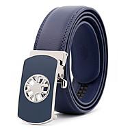 Masculino Festa Trabalho Casual Pele Liga Metálico Côr Pura Cinto para a Cintura,Sólido Marron Preto Azul Real
